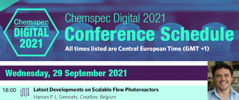 Creaflow is hosting an exclusive lecture on ChemSpec Digital 2021