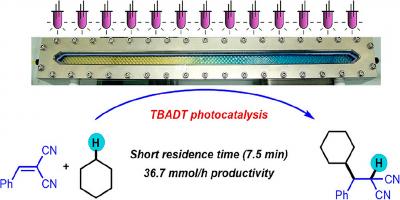 Optimization of a Decatungstate-Catalyzed C(Sp 3 )–H Alkylation Using a Continuous Oscillatory Millistructured Photoreactor. - Noël, T.  et al. Org. Process Res. Dev. 2020, 24 (10), 2356–2361
